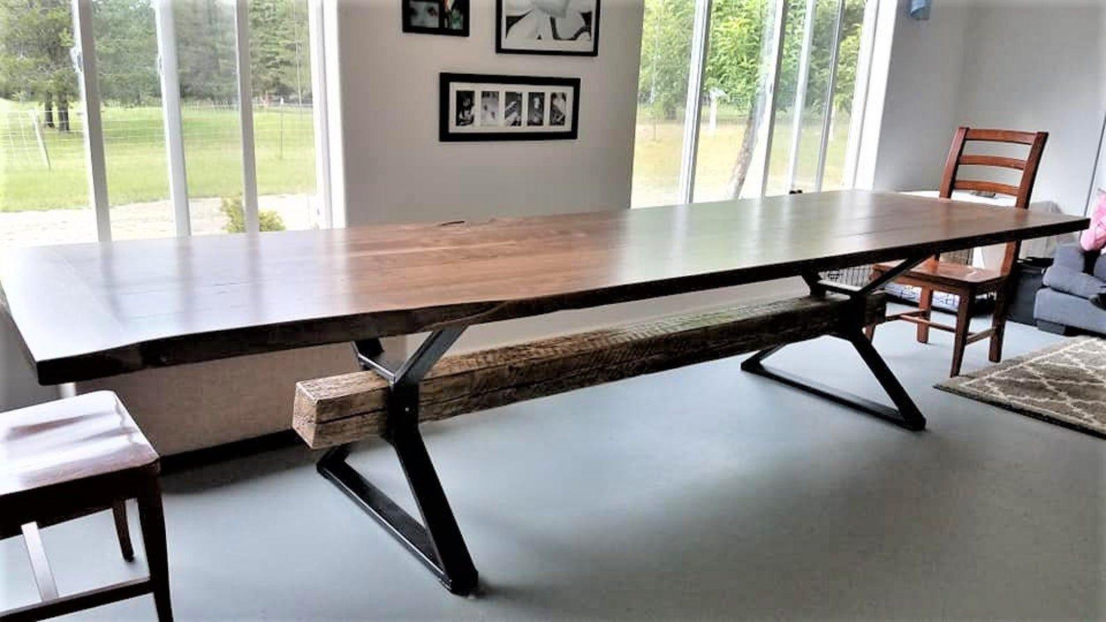 Modern Dining Table X Legs Model Tts09 Heavy Etsy In 2020