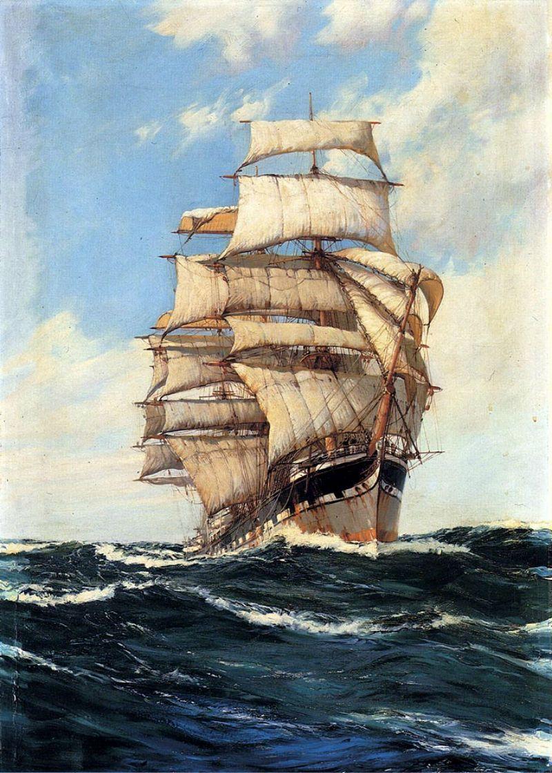 Картинки с кораблями и парусниками, открытки новому году