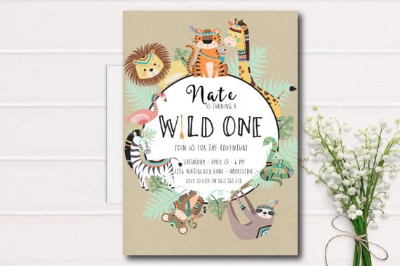 Wild One Birthday Invitation First Kids