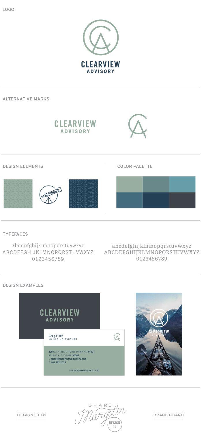 Clearview Advisory Identity Branding By Shari Margolin Design Co Graphic De Business Branding Identity Logo Design Inspiration Branding Branding Design Logo