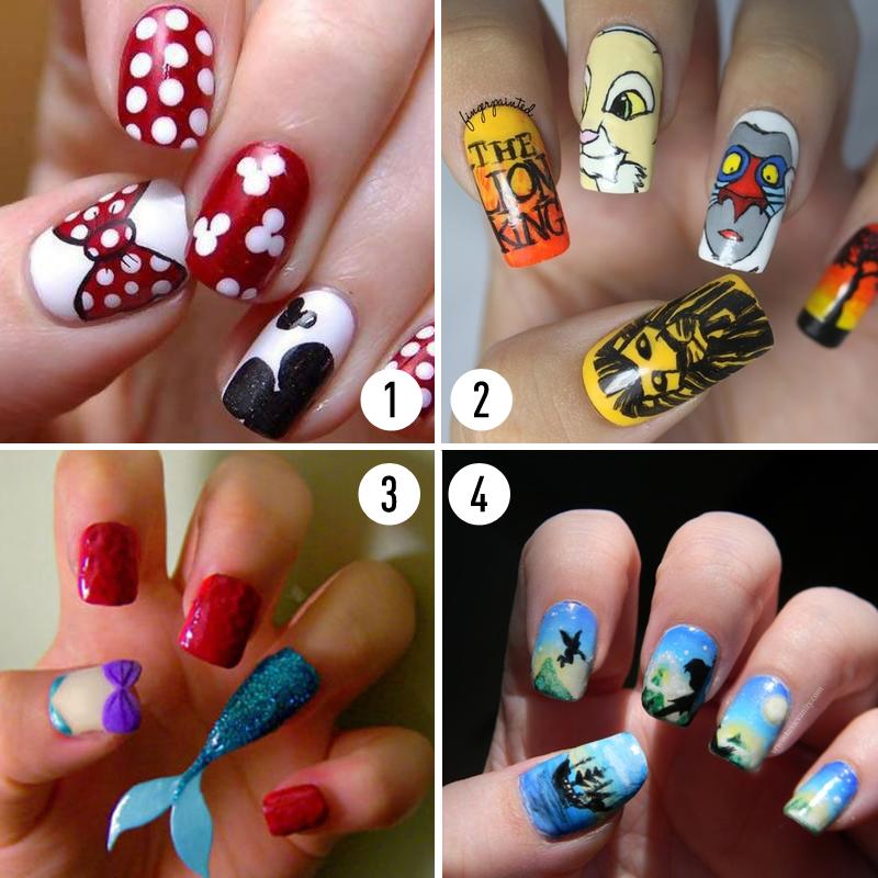 Disney-inspired nail art. | Nail Art & Polish in 2018 ...