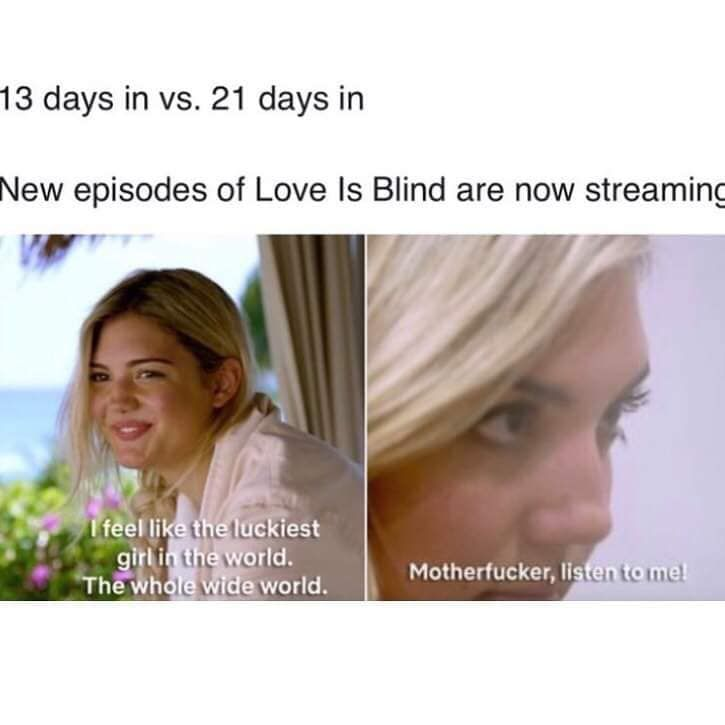 Love Is Blind Memes Meme Show Love Is Hard Quotes Blinds