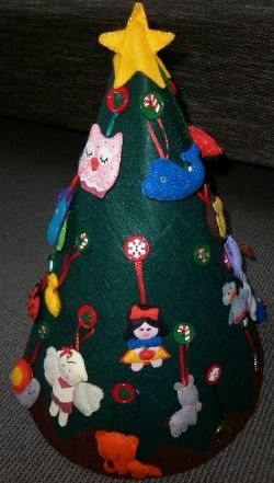 My Felt Christmas Tree with patterns for ornaments too. Also can be stored flat