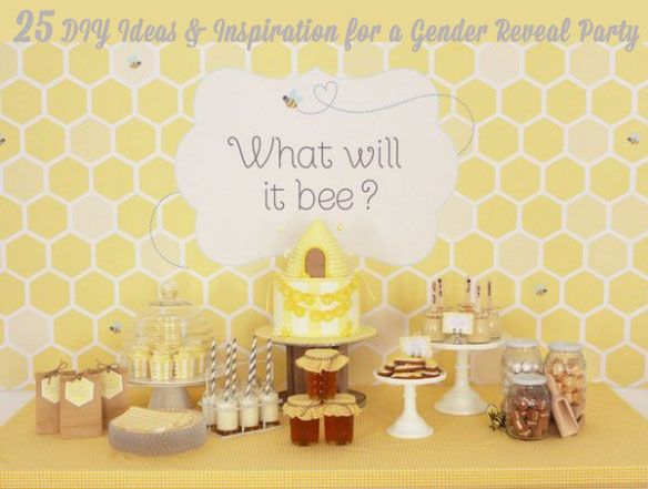 25 DIY Ideas For A Gender Reveal Party. I Like The Nontraditional Colors,  Not