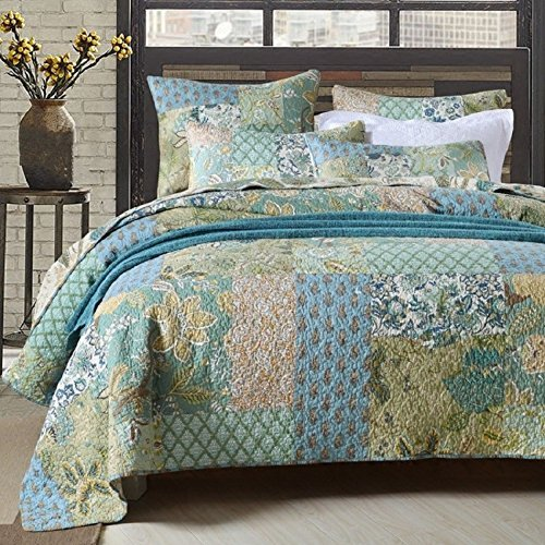 Amazon Com Retro Comforter Set Floral Paisley Printed Pattern 100 Cotton Patchwork Bedspreads Quilt Sets King S Bed Quilt Cover Bed Spreads Quilted Bedspreads
