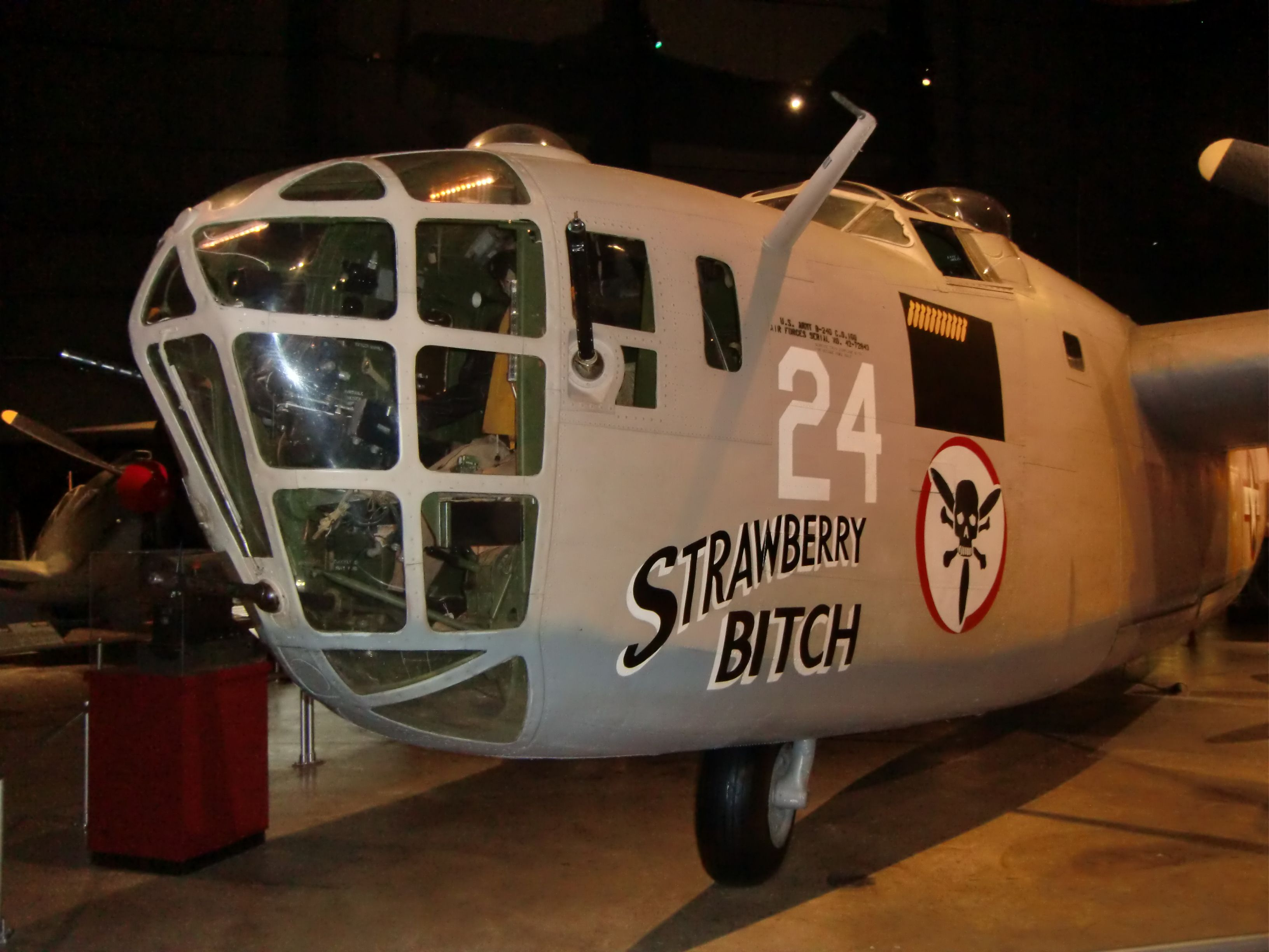 Consolidated B24 Heavy Bomber Shot at the National Museum