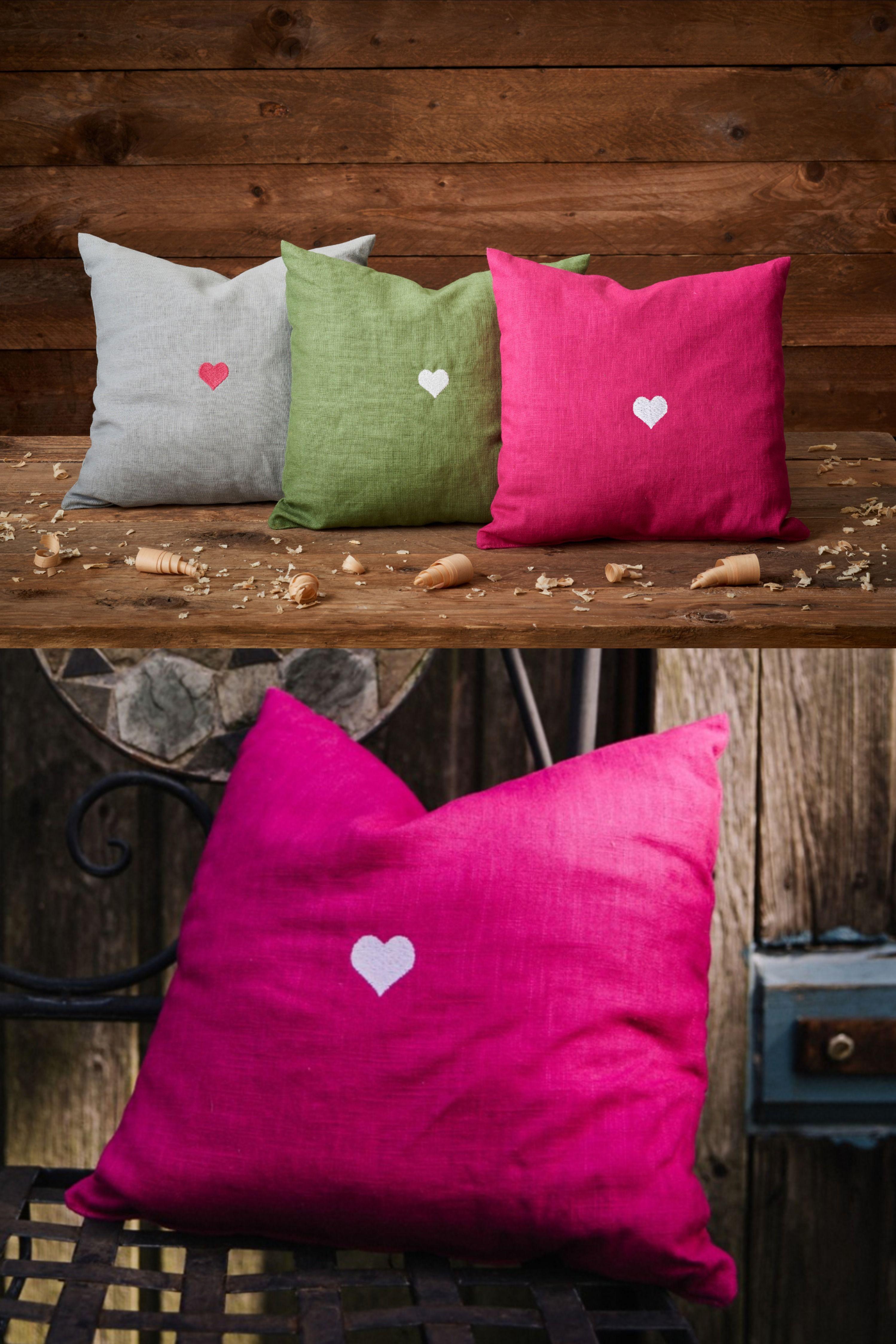 Selbstgemachtes Kissen Mit Zirbenholz Fullung Und Separatem