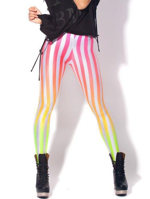 big sale 81e60 8c216 EAST KNITTING BL-130 women digital printed pants BEETLEJUICE NEON SUNSET  LEGGINGS Pink gradient stripes Leggings Free Shipping