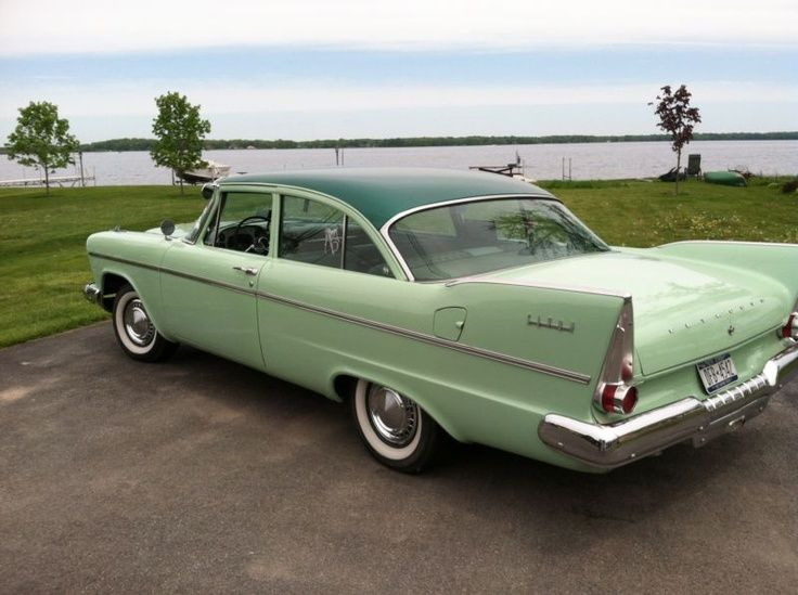 Plymouth Savoy Sedan Tutone Green Classic Chrysler