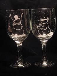 Image Result For Designs For Etched Drinking Glasses Snowman Wine Glass Christmas Wine Glasses Wine Glass