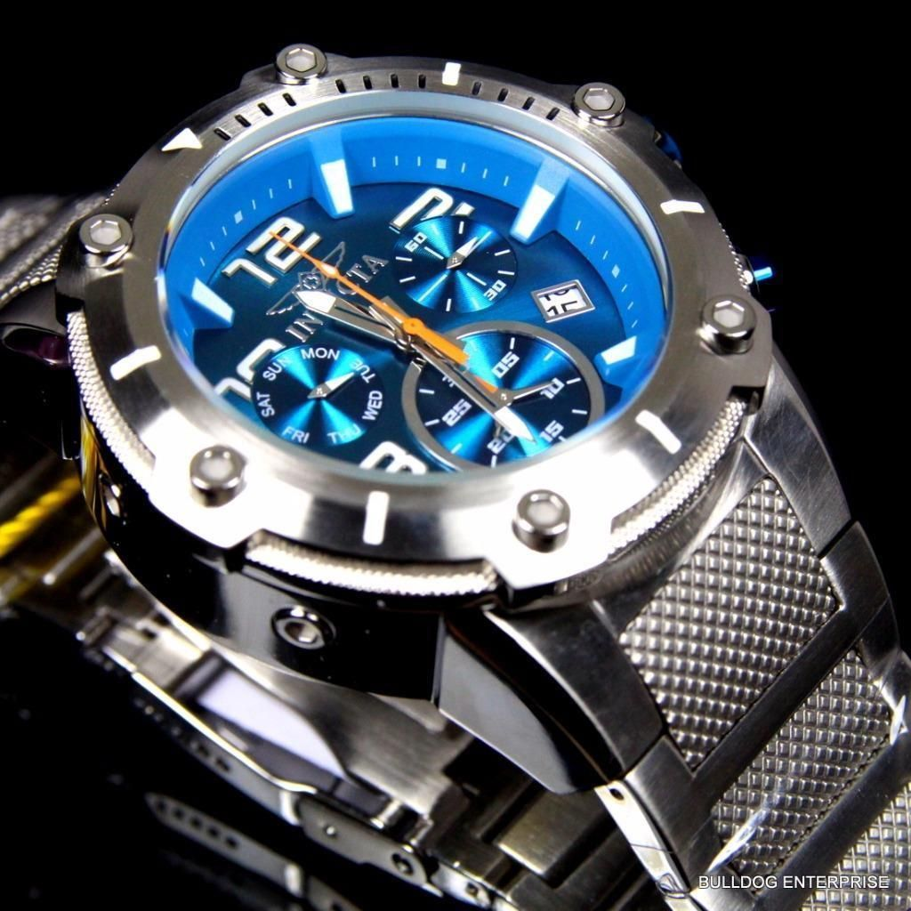 ae1dd651c06b Invicta Speedway Xl Teal Blue Stainless Steel Chronograph Swiss Parts Watch