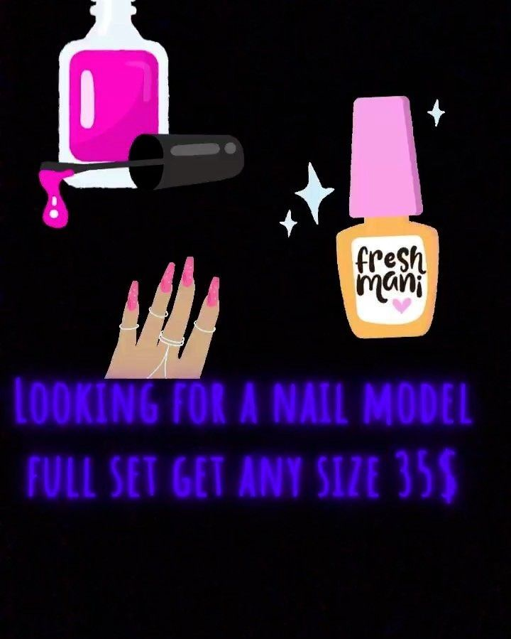 dates 1/10-1/12 basic set looking for nail models hit my dms if interested and go follow @cute.icle