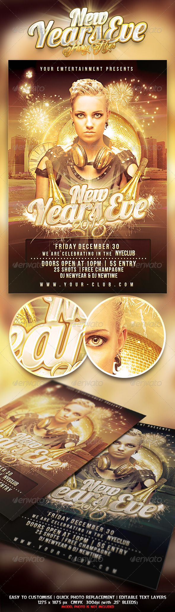 new years eve party a luxury looking flyer to promote your glamorous event you can promote your party