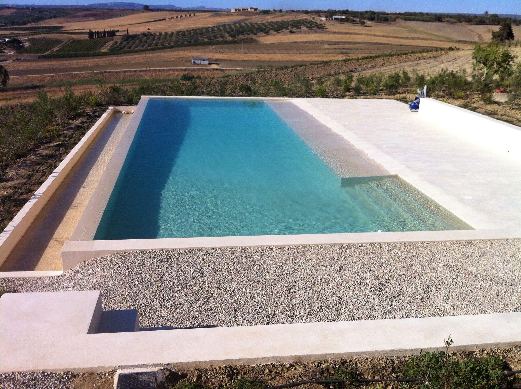 Piscine Sfioro A Cascata piscina con sfioro a cascata e spiagetta (con immagini