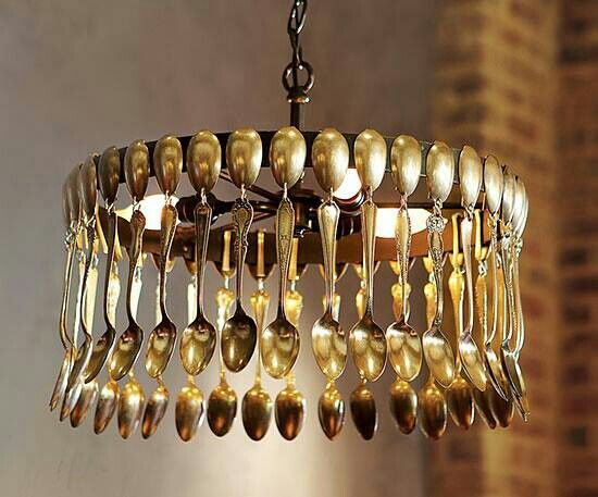 Spoons chandelier | Diy chandelier, Silverware art, Diy ...