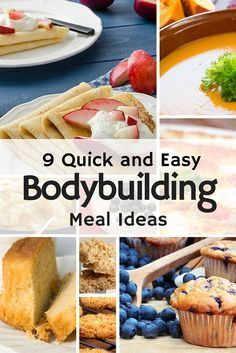 9 Quick and Easy Bodybuilding Meal Ideas #bodybuildingrecipes If you are fed up of plain chicken and...