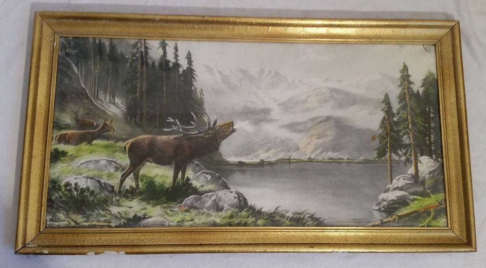 Verkaufe einen großen, alten Bilderrahmen, genaues Alter unbekannt ...