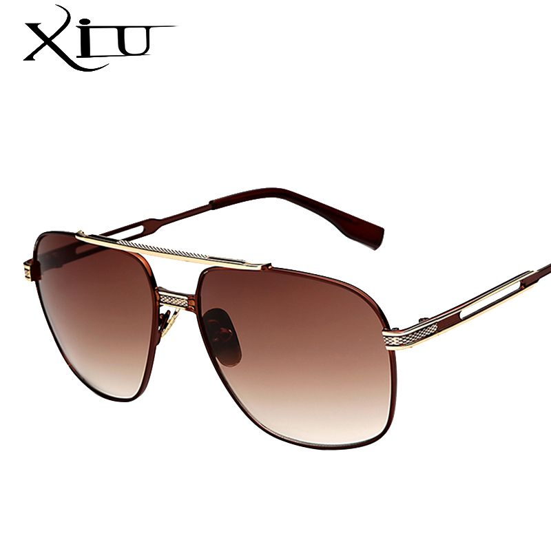 cdf2b9dad96 XIU Square Shades Metal Sunglasses Men Retro Vintage Women Sunglasses Brand Designer  Eyewear Male Fashion Glasses UV400-in Sunglasses from Men s Clothing ...
