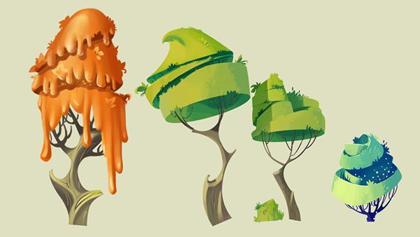 sketches and elements of the game on Behance: