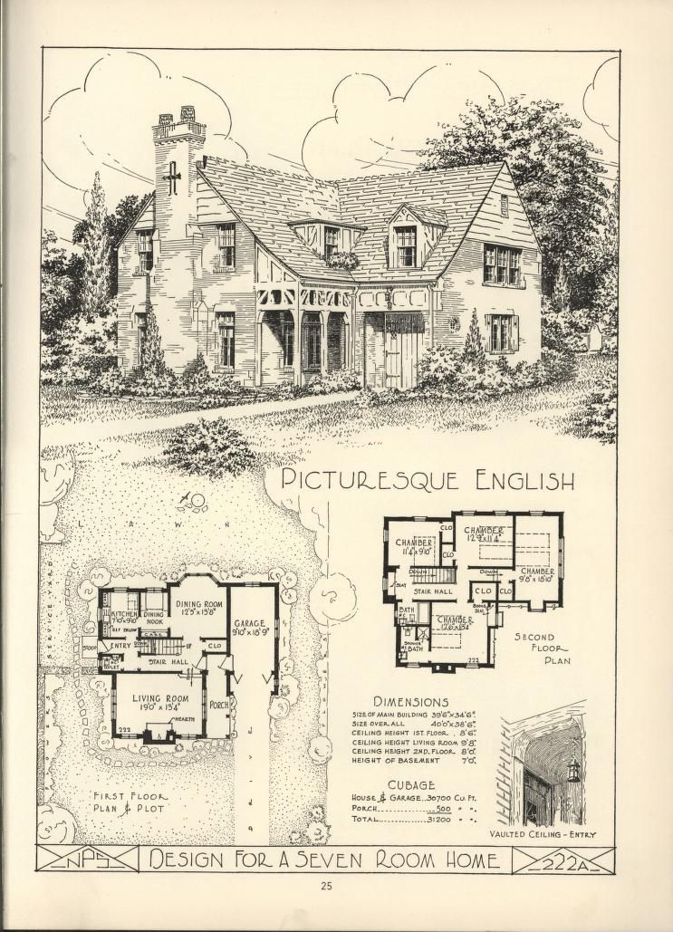 Lake shore lumber coal house plans vintage home for Retro house plans