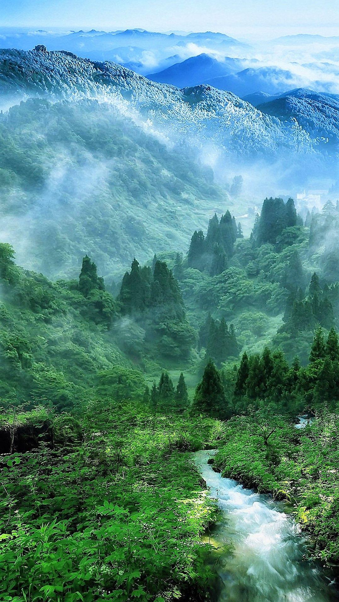 Green Landscape River Nature Wallpaper Nature Scenes Nature