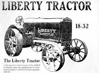 Old Farm Equipment-Tractors-Engines: LIBERTY TRACTORS