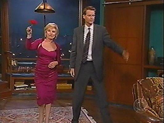 Debbie on the Late Late Show with Craig Kilborn 2004