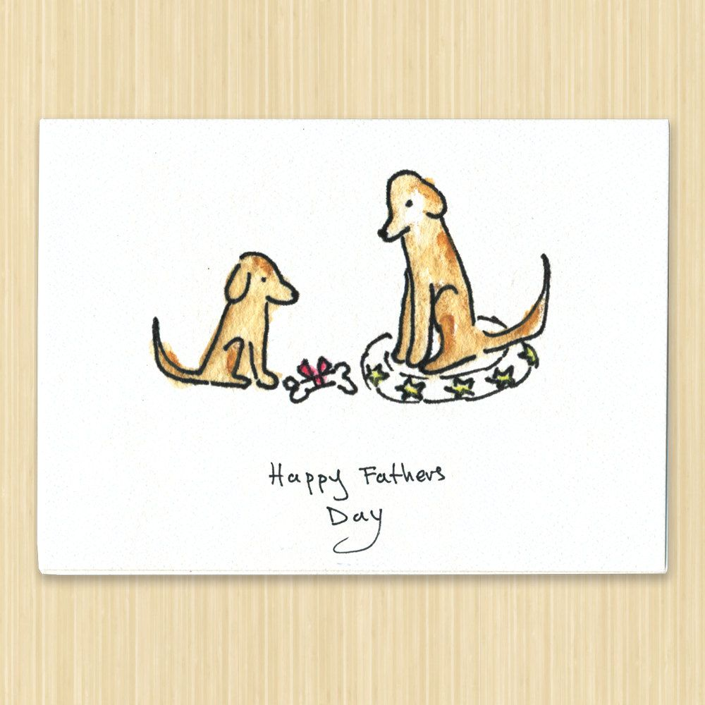 Fathers day card happy fathers day greeting card dog card fathers day card happy fathers day greeting card dog card recycled paper card kristyandbryce Images