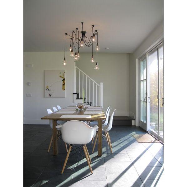Edison spider chandelier pendant lights black spider for Living room hanging lights