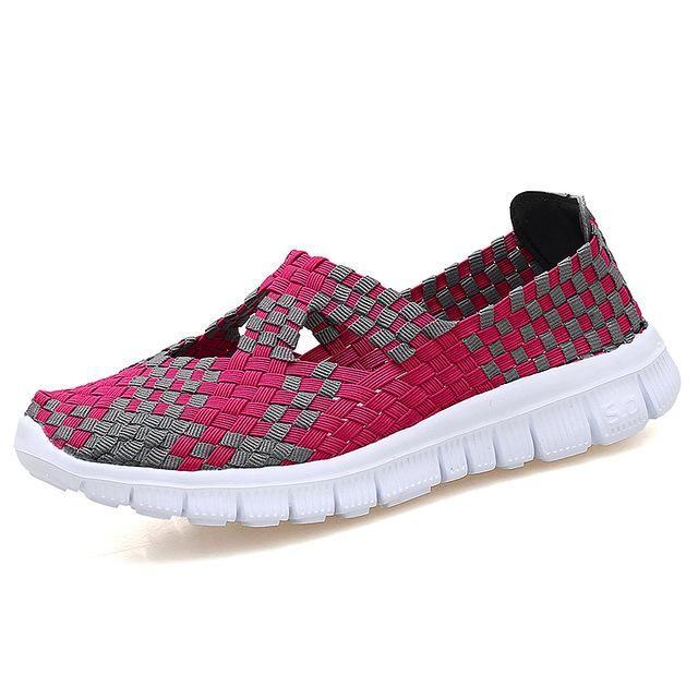 53f61cae0083 STQ 2018 summer women flats shoes women woven shoes flat sneakers shoes  female ballet flats multi eva loafers ladies shoes 609