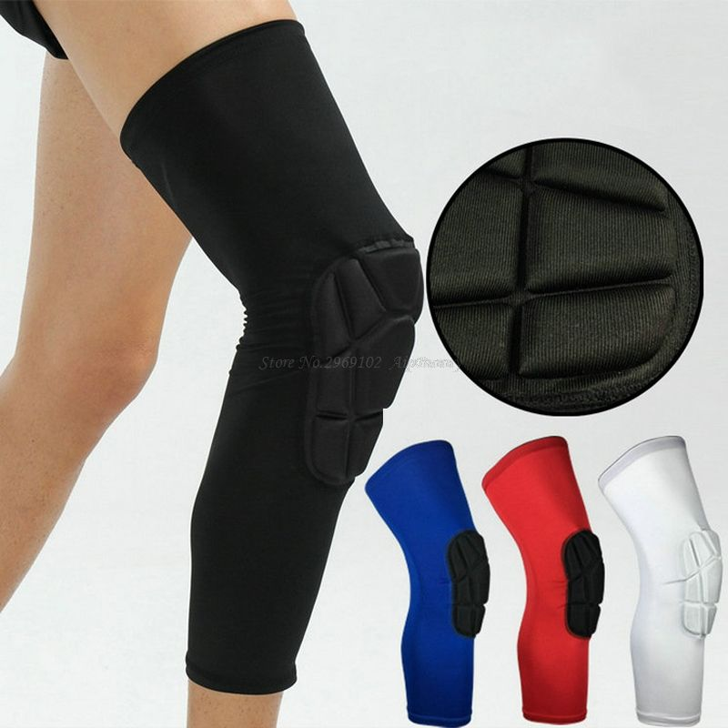 2 Pcs Professional Shockproof Anti Hit Drop Sport Fitness Knee Protector Basketball Volleyball Running Cycl Basketball Leg Sleeves Sport Safety Sports Safety