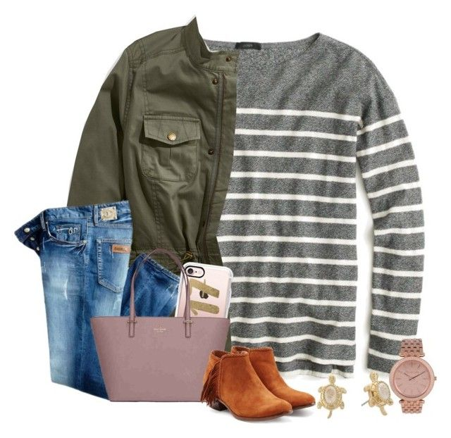 oh 2017, be good to me 💖 {ootd} by wiinter-blue on Polyvore featuring polyvore fashion style J.Crew L.L.Bean Just Cavalli Sam Edelman Kate Spade MICHAEL Michael Kors Lilly Pulitzer Casetify clothing