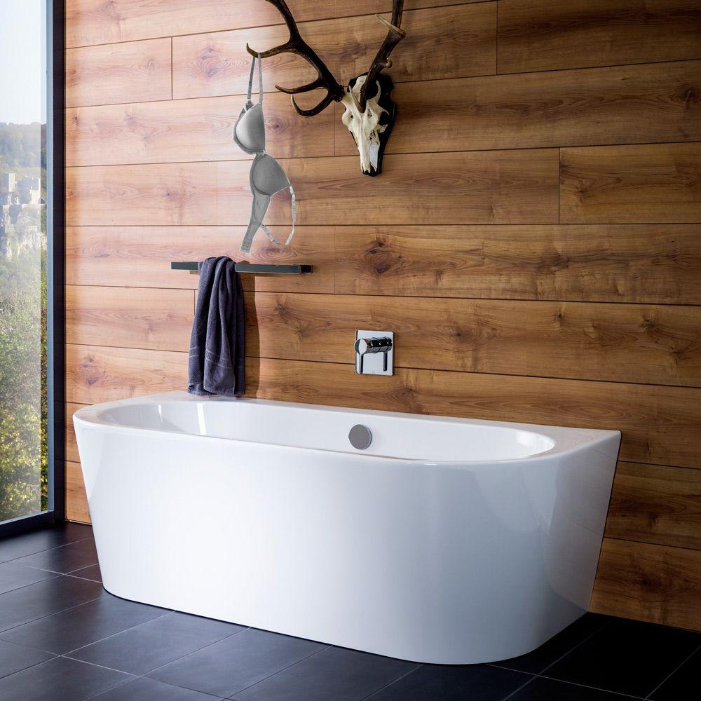 Steinkamp Living Freistehende Vorwand Badewanne 180 X 80 Cm St010w Megabad Bad Einrichten Badezimmer Einrichtung Badewanne