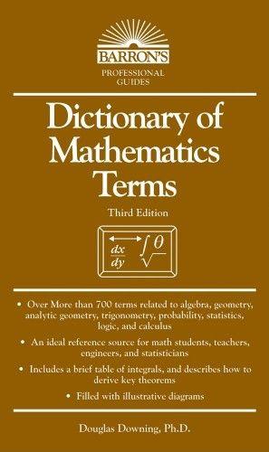 Dictionary Of Mathematics Terms Mathematics Calculus Barron