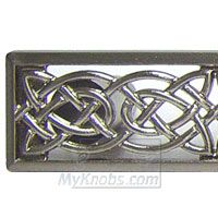 Perfect Abstract Designs Decorative Hardware Celtic Style 5 Inch Center Pull In  Satin Nickel   ( ABD
