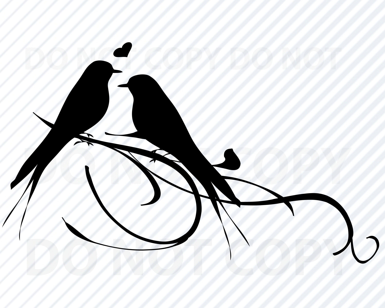 Lovebirds Svg Files Love Birds Vector Image Clipart Love Etsy Bird Silhouette Art Silhouette Art Bird Silhouette