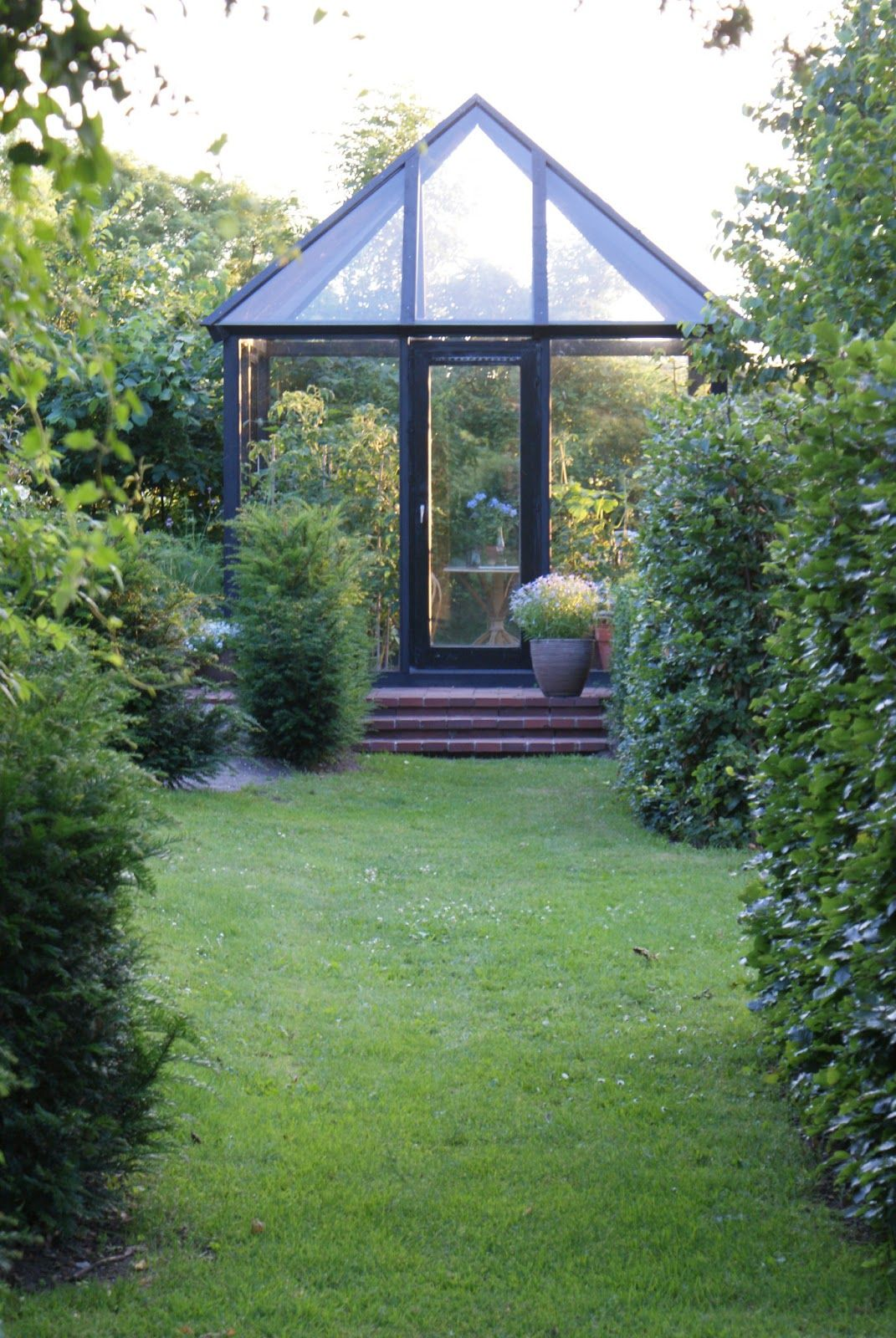 lush landscaping ideas. Small Greenhouse In Lush Landscape. Landscaping Ideas I