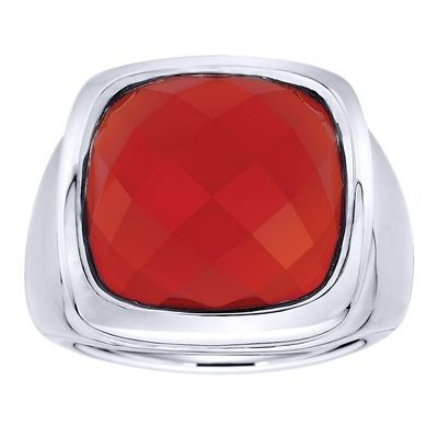 925 Silver Red Onyx Fashion Ladies' Ring LR6985SVJRO