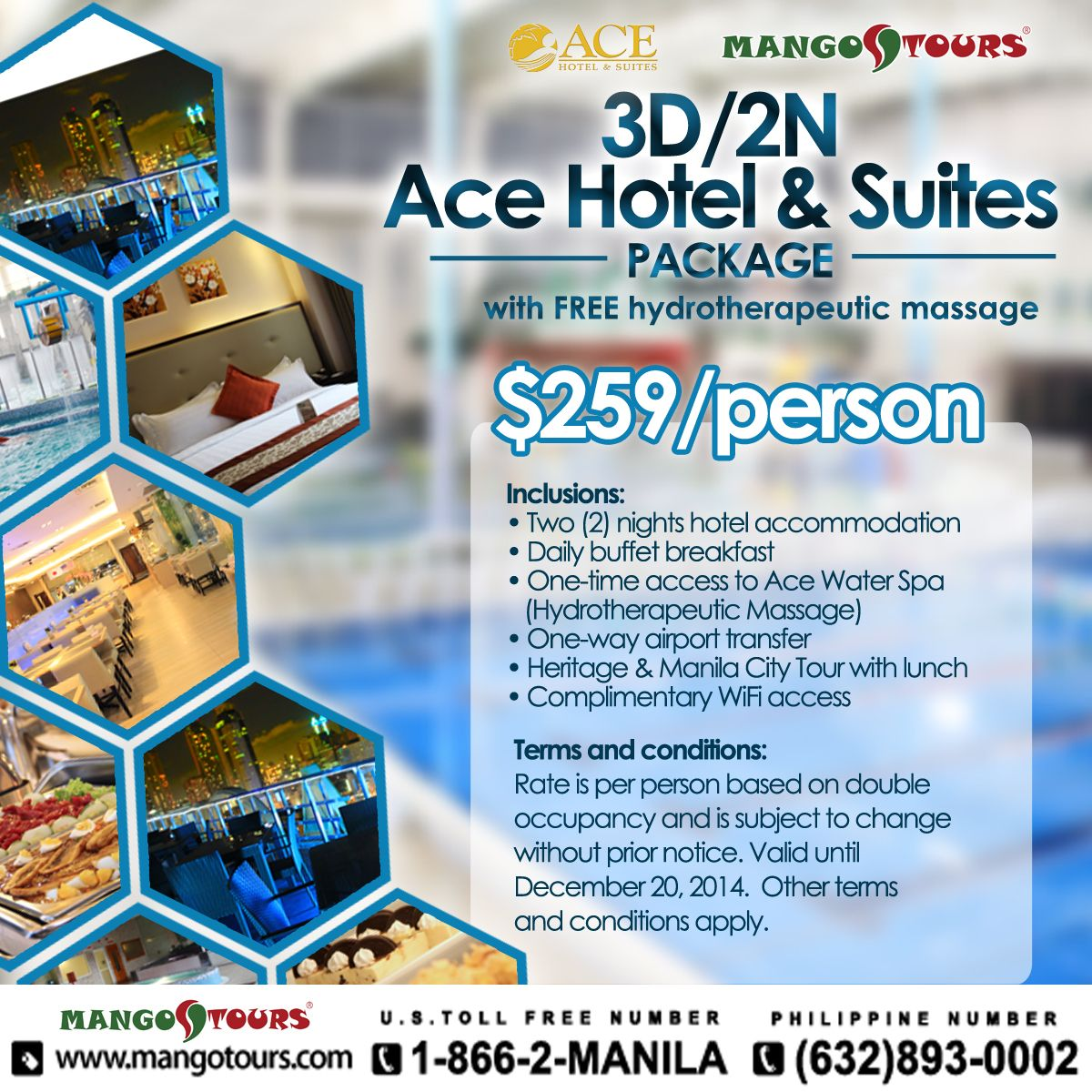 3D2N Ace Hotel  Suites with FREE Hydrotherapeutic