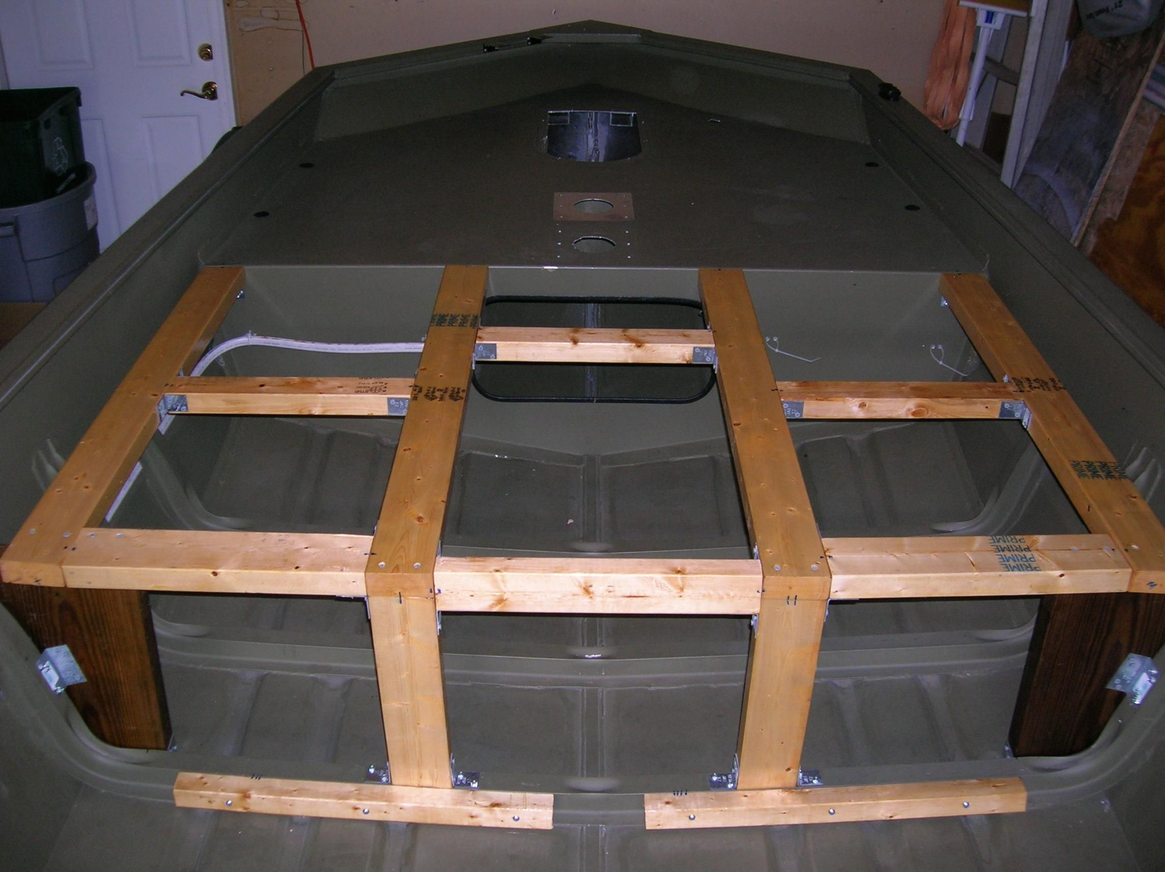 Jon boat floor plans gurus floor for Boat storage building plans