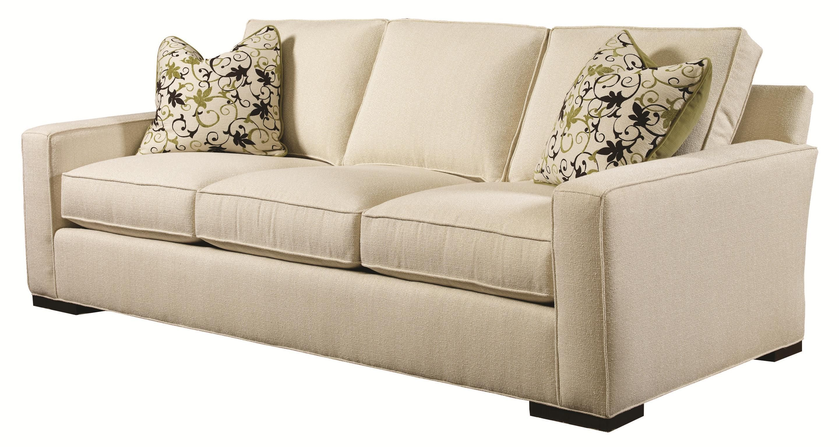 Urban Spaces   Bond Contemporary Sofa With Block Wood Feet By Lexington At  Sprintz Furniture