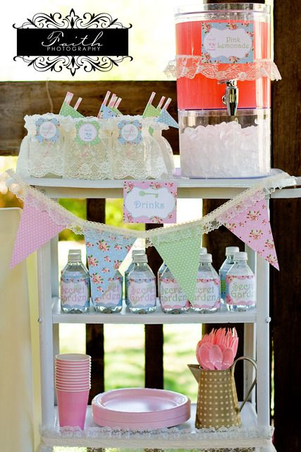 "Photo 22 of 38: Shabby Chic and Vintage Tea Party / Birthday ""Vintage Secret Garden Party"" 