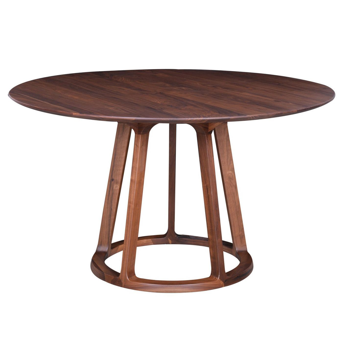 this solid american walnut table features a highly elegant finish