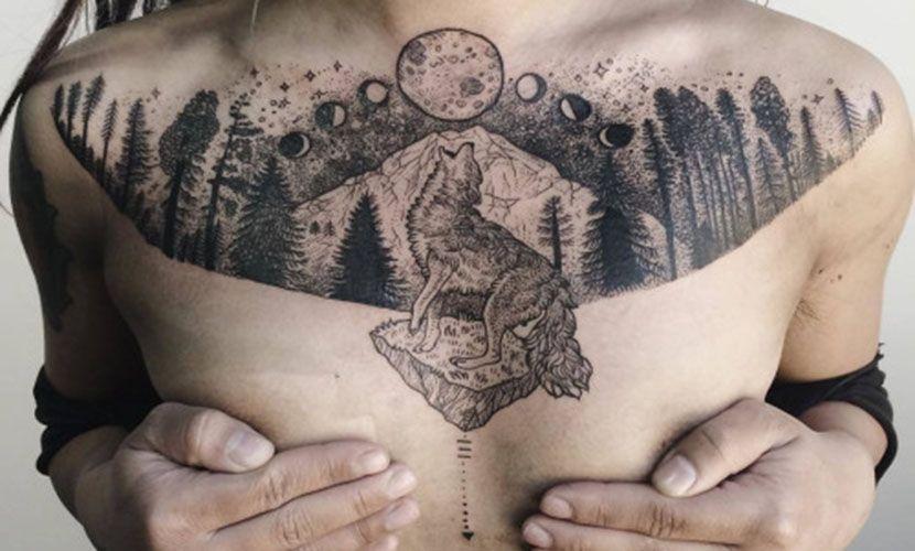 Tatuajes en el pecho, recopilación y claves Pinterest Propuestas