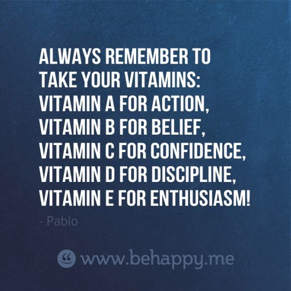 Always remember to take your Vitamins: Vitamin A for Action