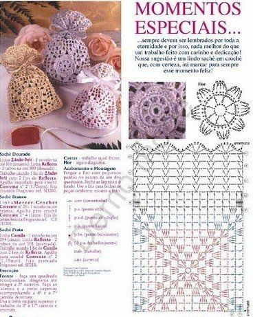 Many Sachet Bags Crochet Diagrama Patterns Great For Party