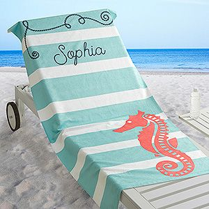 nautical personalized beach towel girls 9th birthday pinterest