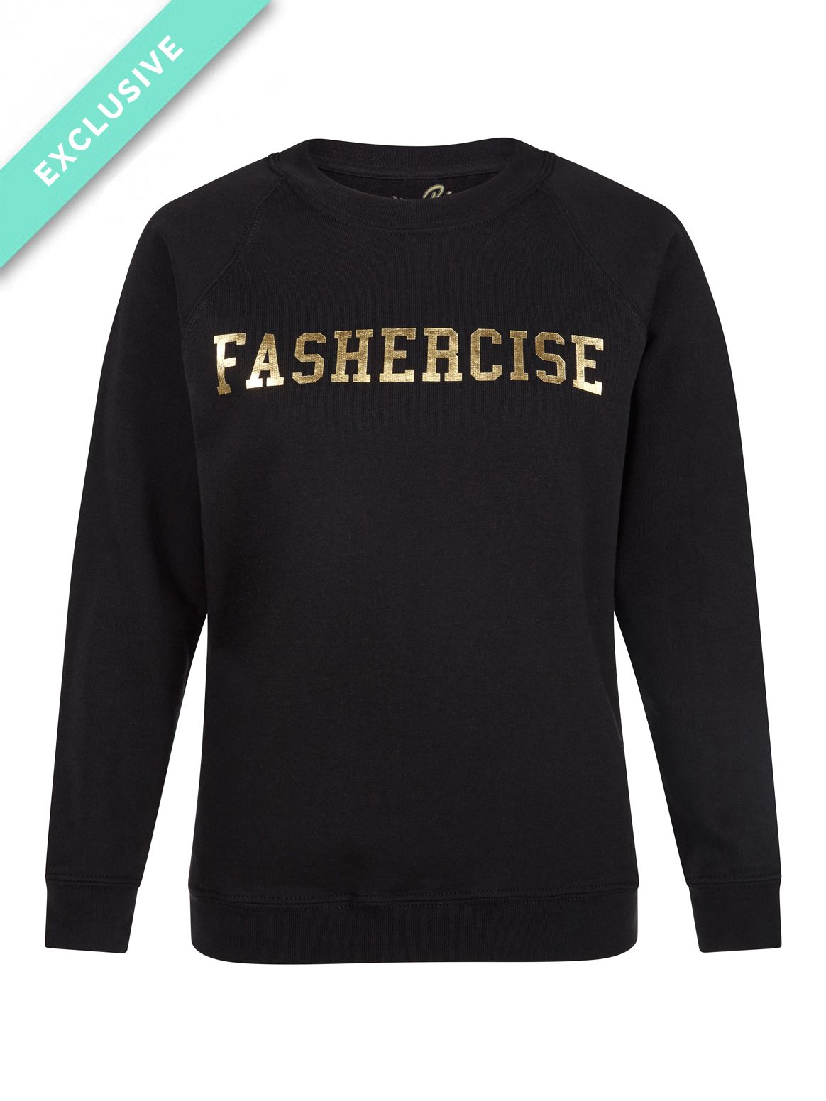 Lounge in style with this exclusive On The Rise 'Fashercise' sweatshirt!