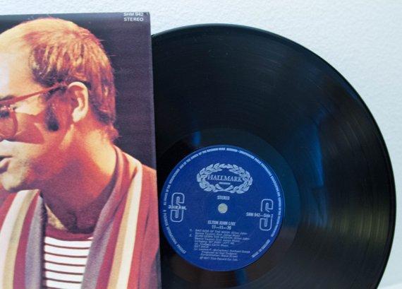 Elton John Vinyl Record Album Lps 1970s British Classic Rock And Roll Pop Piano Ballads Live 17 11 Vinyl Record Album Classic Rock And Roll Vinyl Records