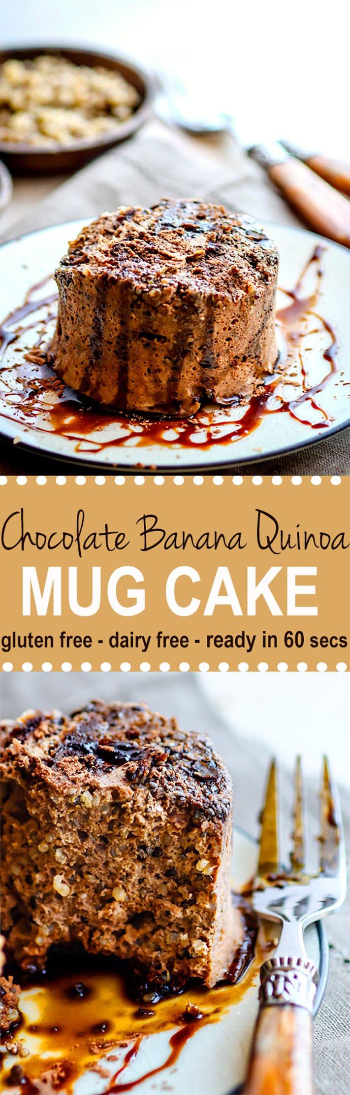 Chocolate Banana Quinoa Microwave Mug Cake | Recipe ...